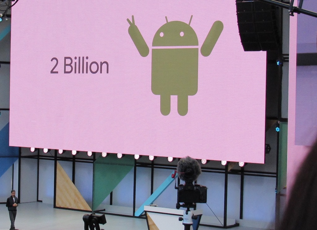 Android Now has Two-count 'Em- Billion Users