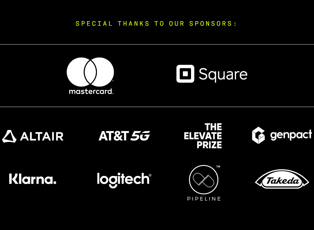 Special thanks to our sponsors