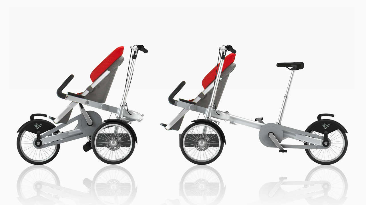 A Clever Stroller That Converts Into An Adult Trike In 20 Seconds