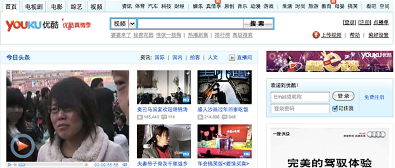 YouTube = Youku? Websites and Their Chinese Equivalents