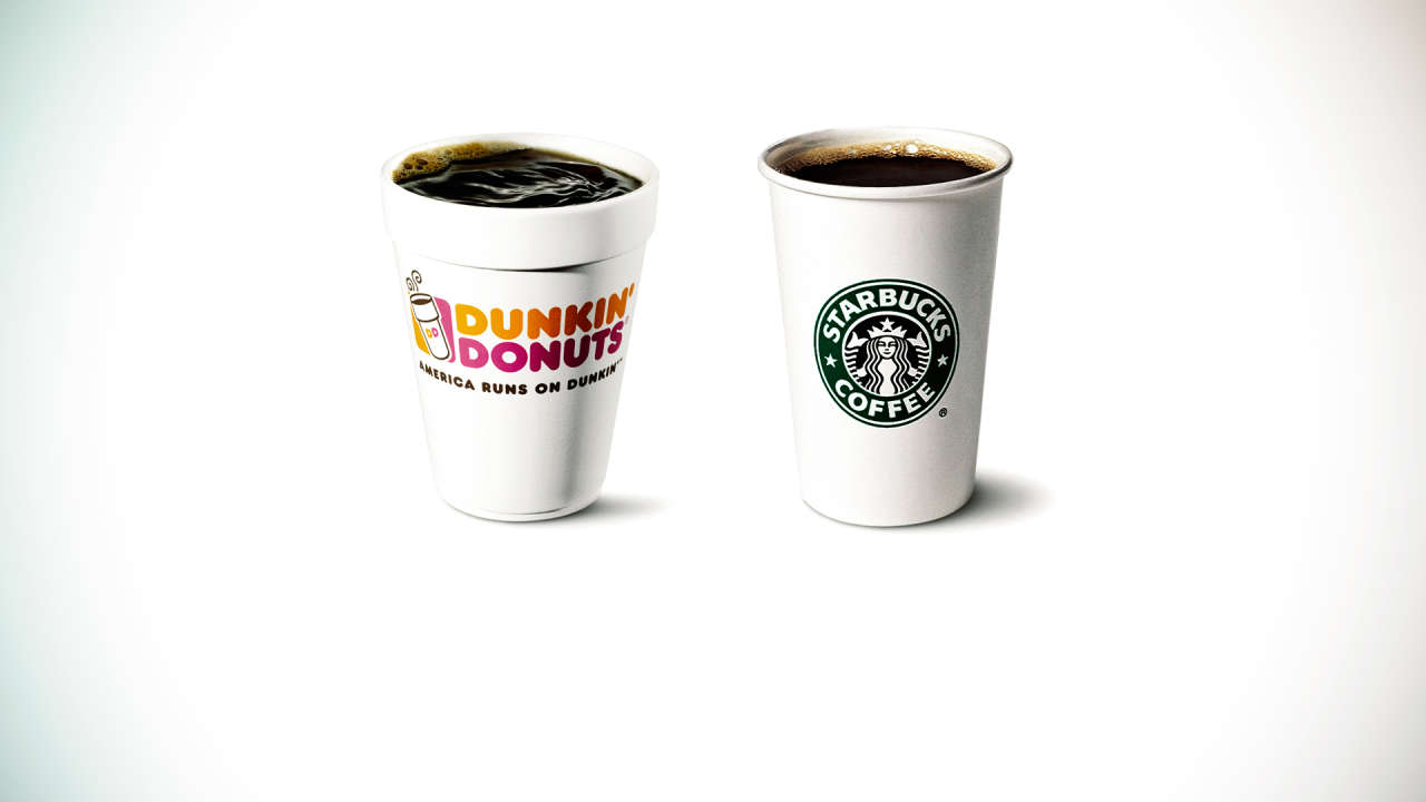 dunkin donuts and starbucks a tale of two coffee marketing giants