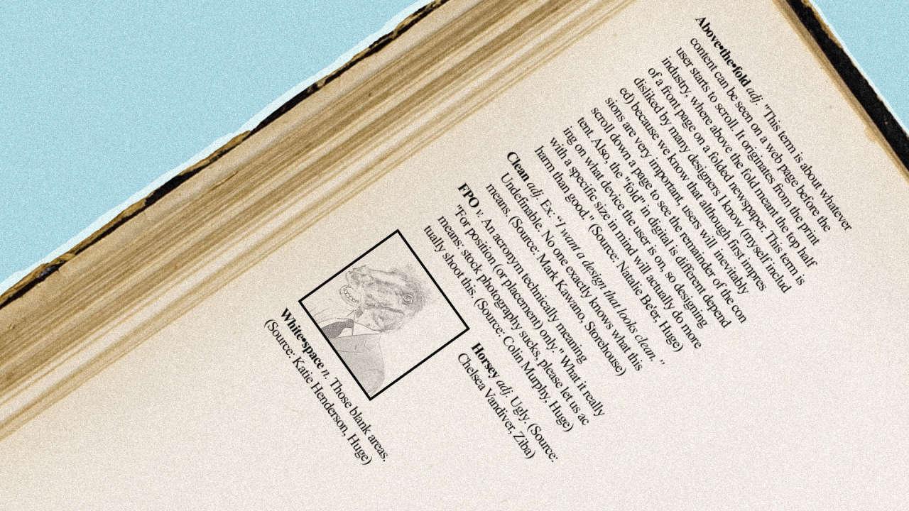 the urban dictionary of design slang