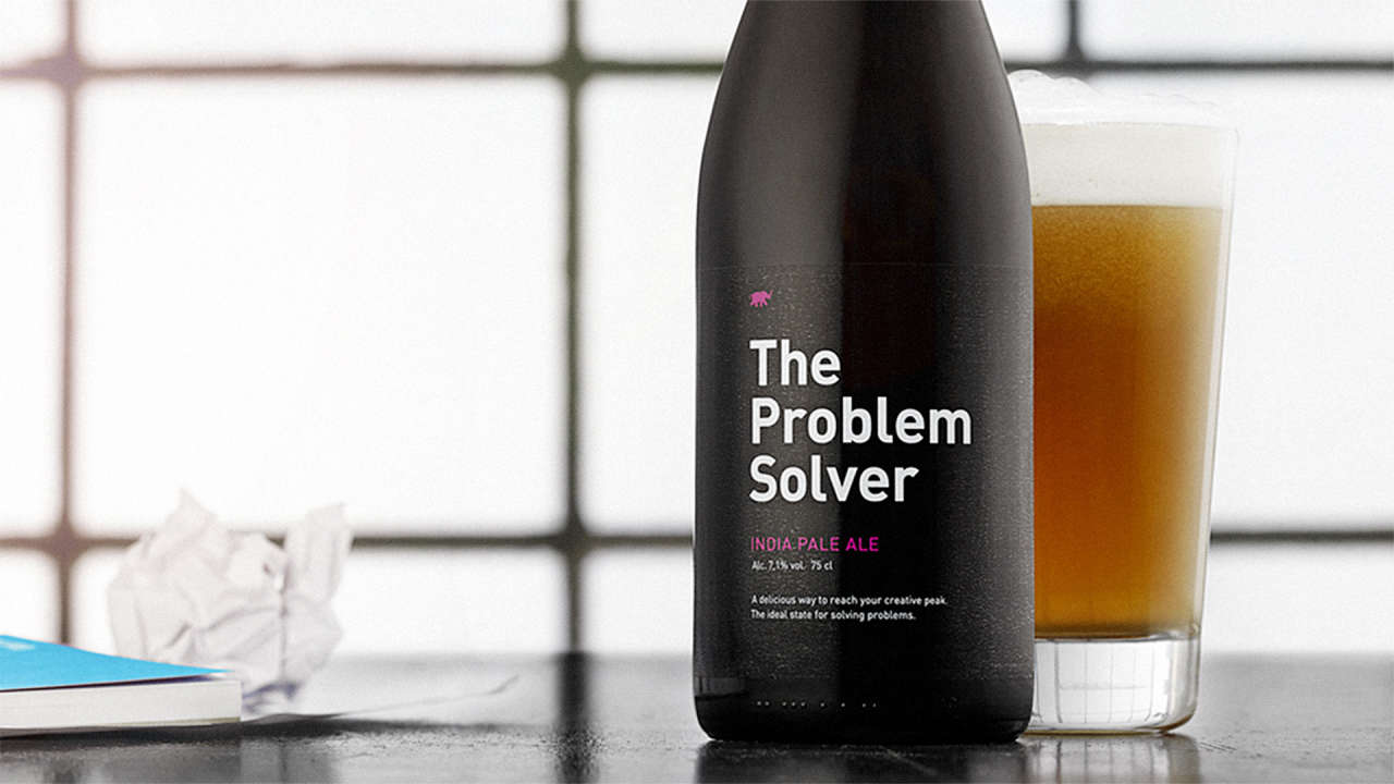 finally a beer that will solve your creative problems