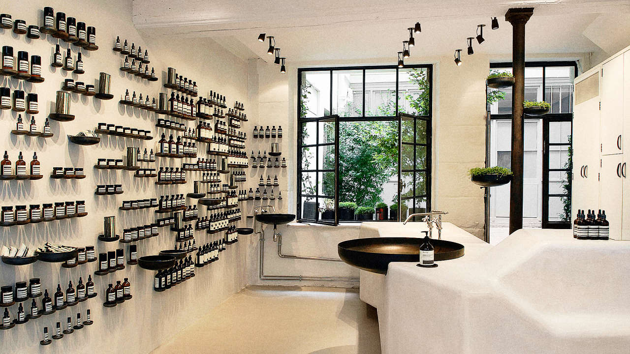 Skincare brand aesop reveals its 4 secrets for standout for Interior design retail agency