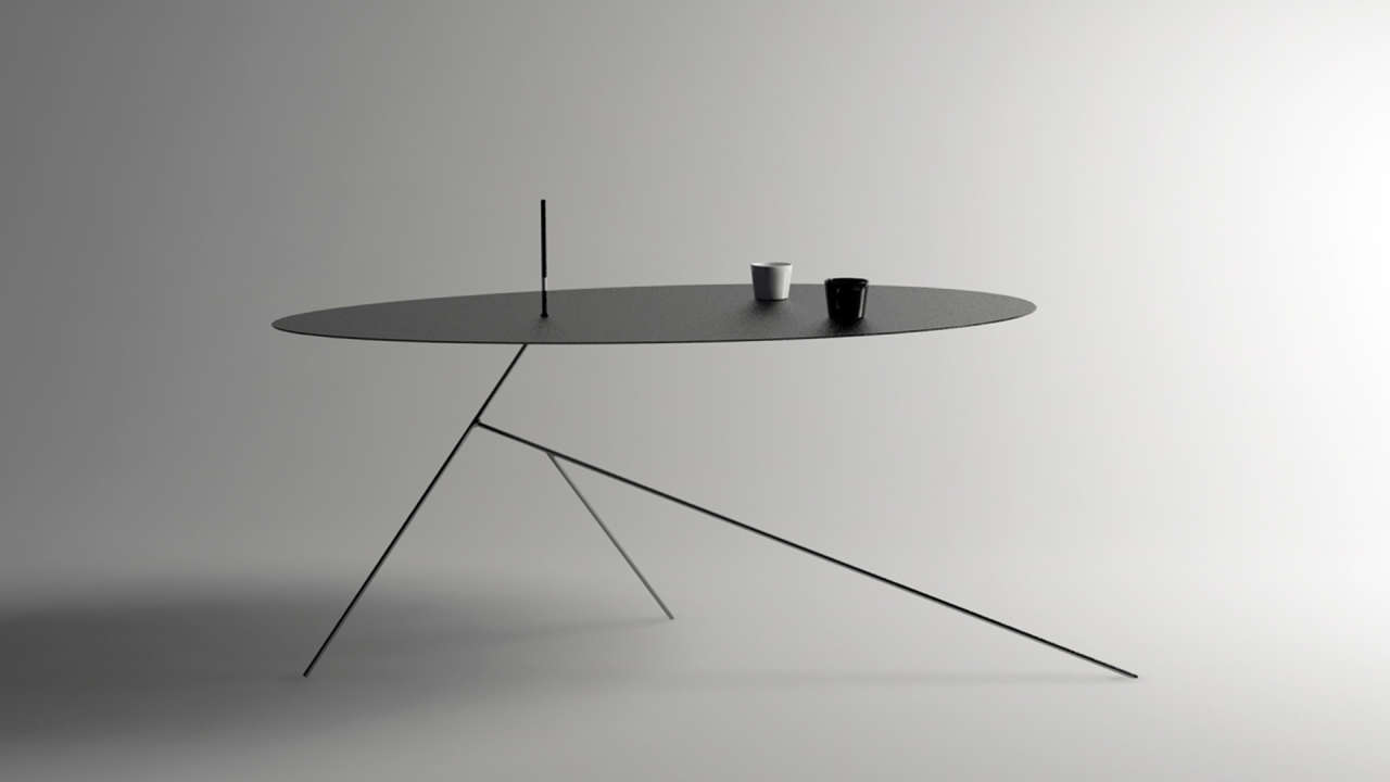 The ultimate minimalist table is practically invisible for Minimalist table design