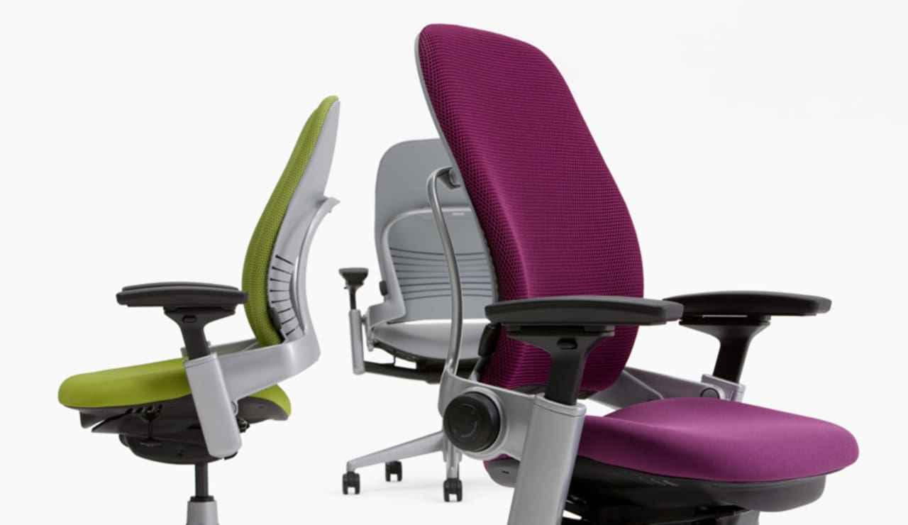 An Office Chair With Built In Video Instruction Manual