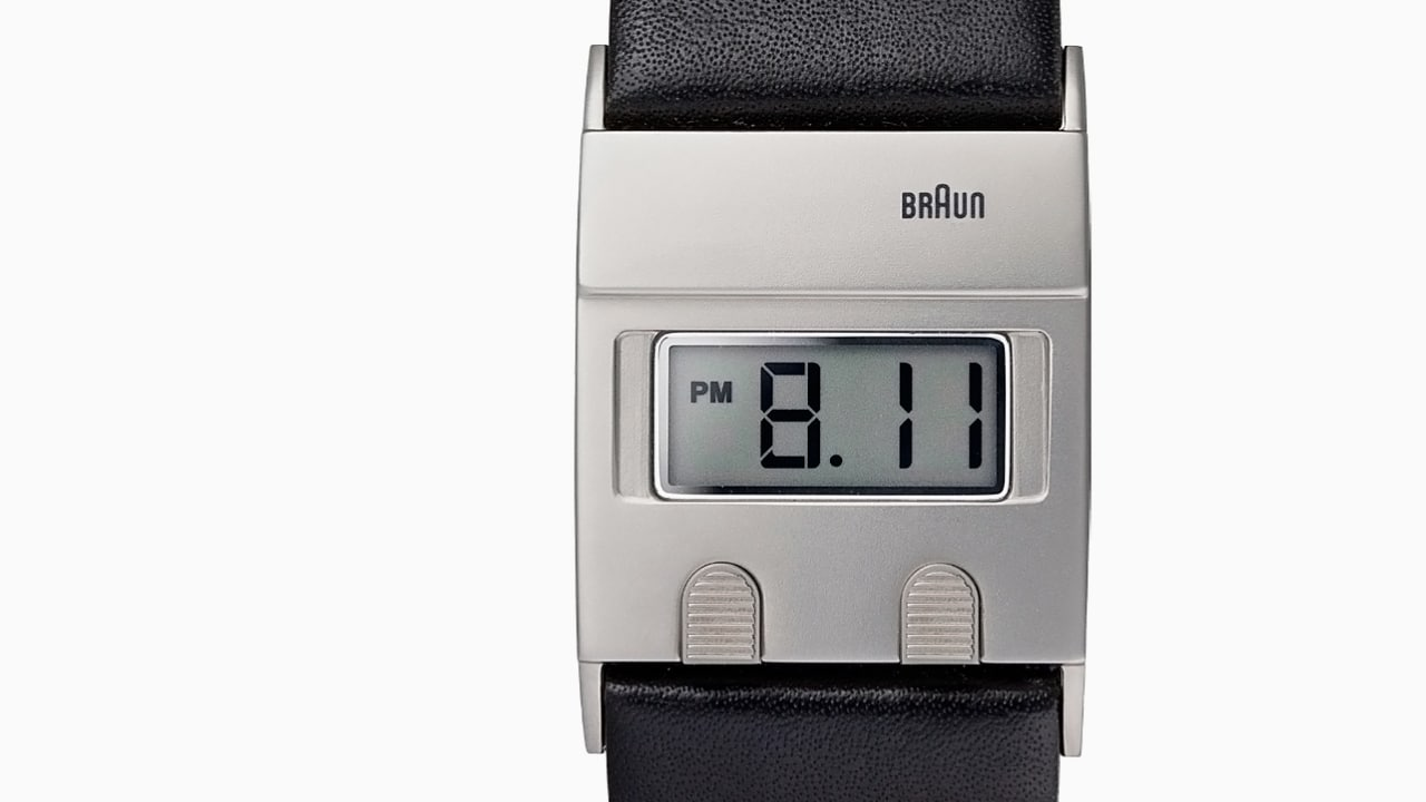 braun reissues a sleek digital watch by dieter rams - Bder Braun