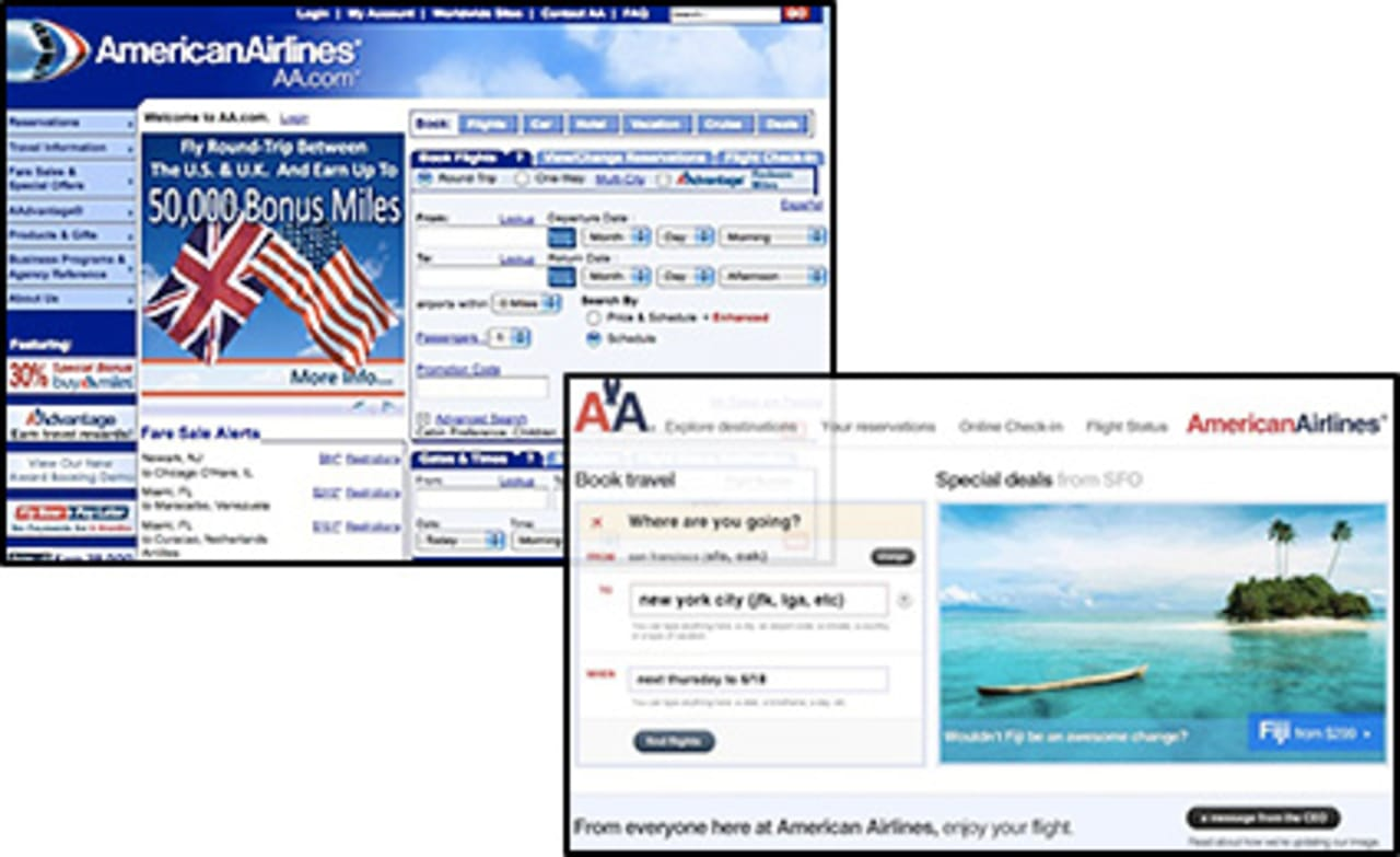 American Airlines Web Site: The Product Of A Selfdefeating Design Process