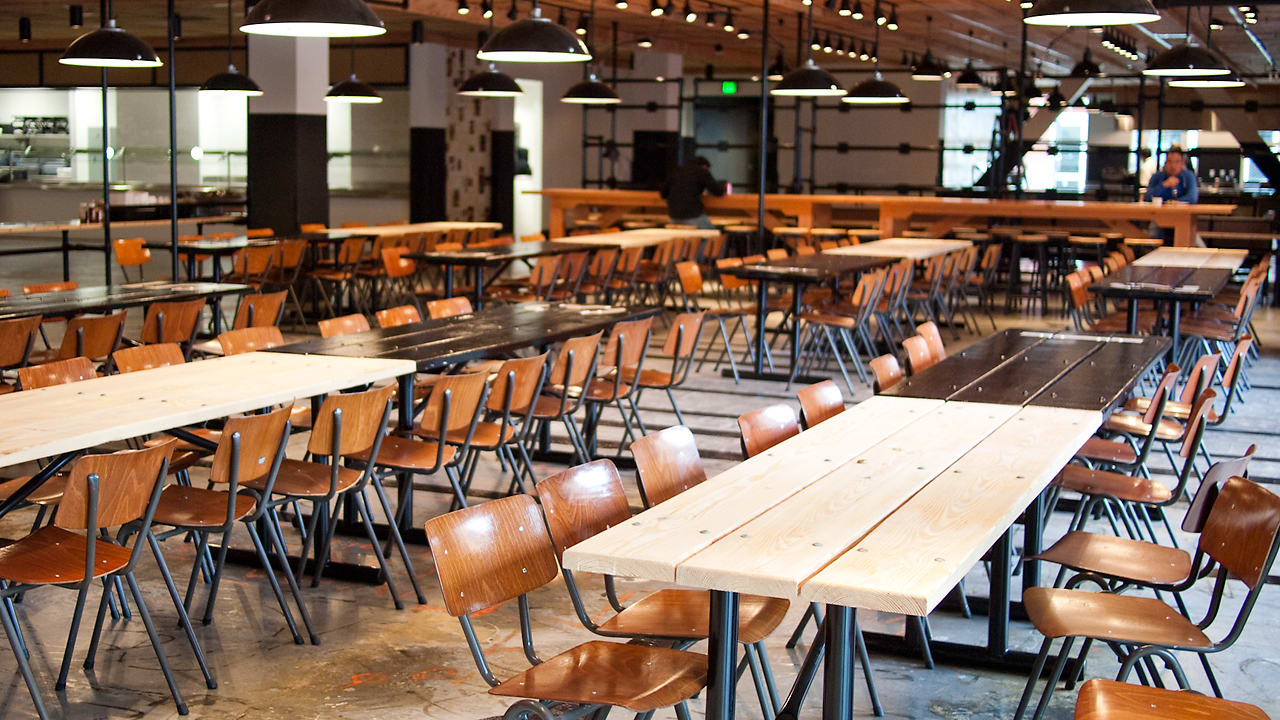 Facebook S Cafeteria By The Masters Of Rustic Chic Co