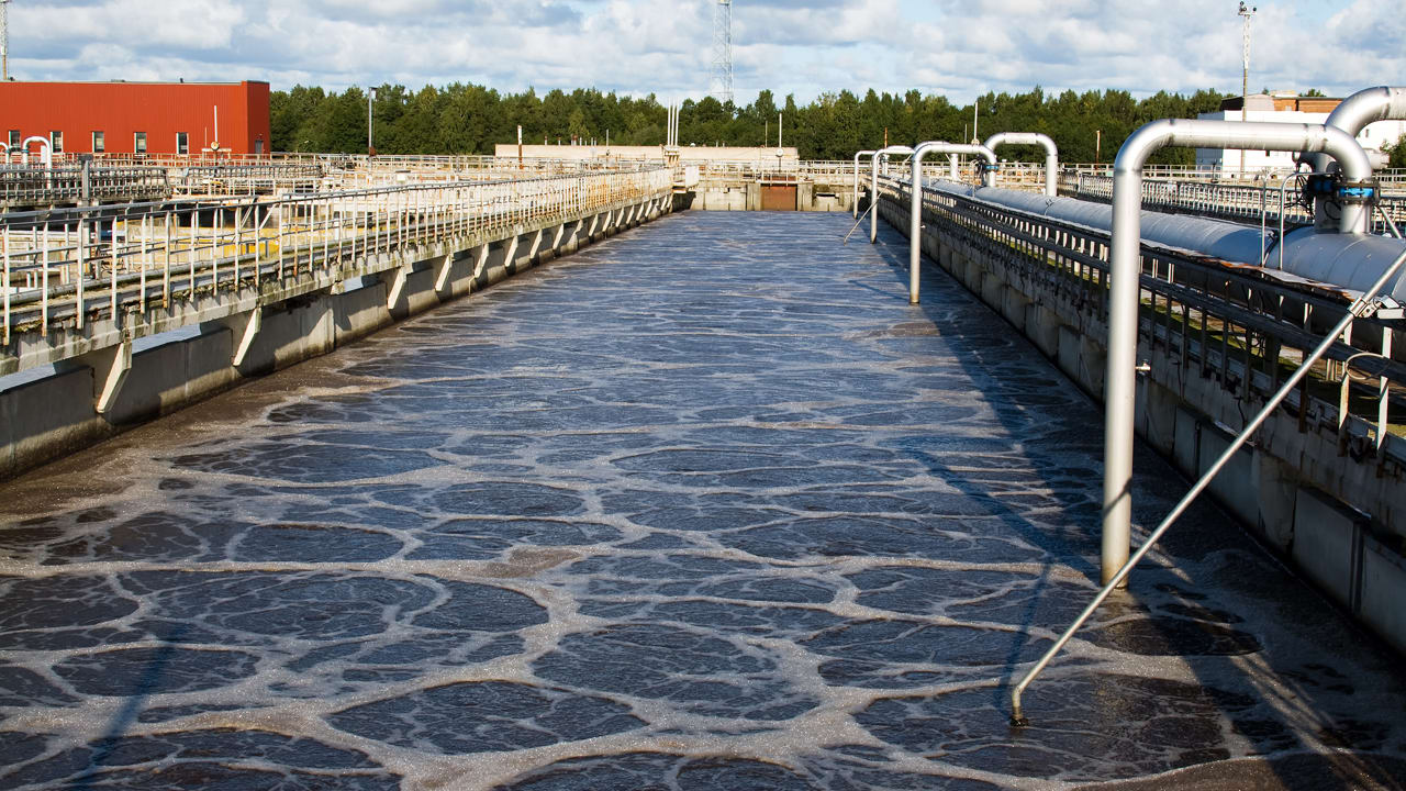 aeration basins in waste water treatment Wastewater treatment primary clarified effluent is conveyed to the aeration basins for further treatment the water may also receive preparatory treatment.