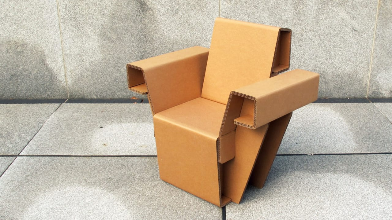Cardboard furniture chair - Could This Cardboard Furniture Replace Your Ikea Chairs And Bookshelves