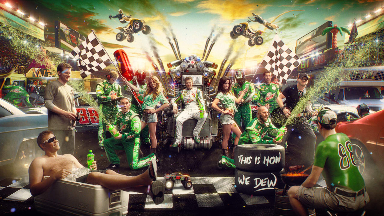 Mountain Dewmercials Create Fantastical Living Portraits Of The Brand's  Team Of Allstars How To Make Mountain Dew (howtobasic)
