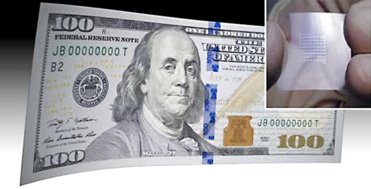 What Would You Do With a $100 Bill Covered by Invisible Transistors?