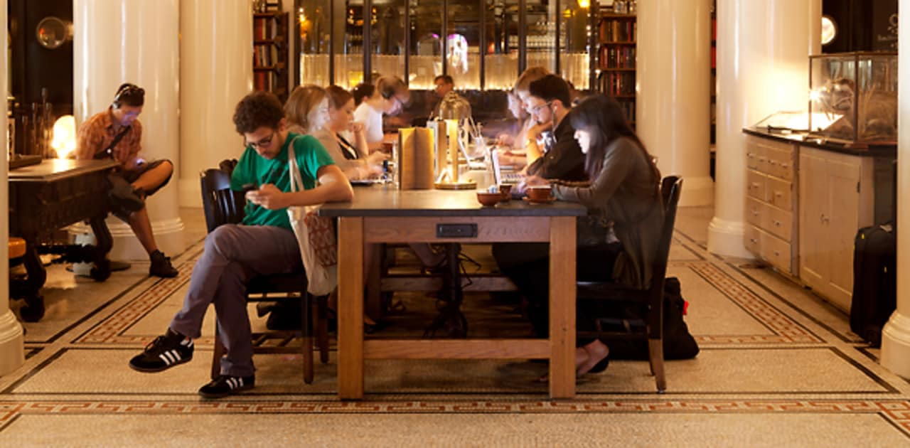 Ace Hotel S Communal Workspace Shows A Winning Hand Fast