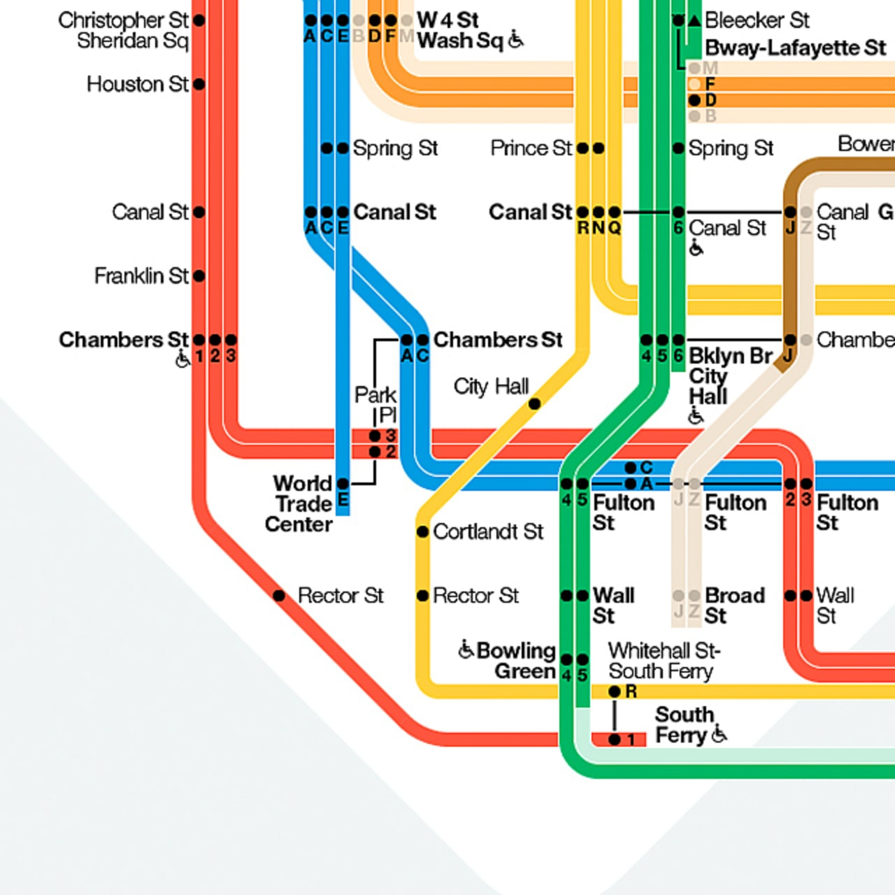 Infographic Of The Day NYC Finally Builds A Better Subway Map - Nyc map canal street
