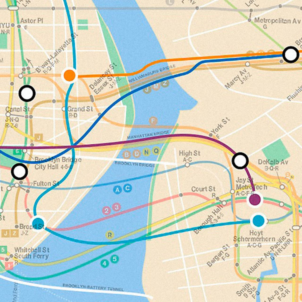 Infographic Of The Day A Map Of NYCs Lost Subway Lines - Nyc unfolds map