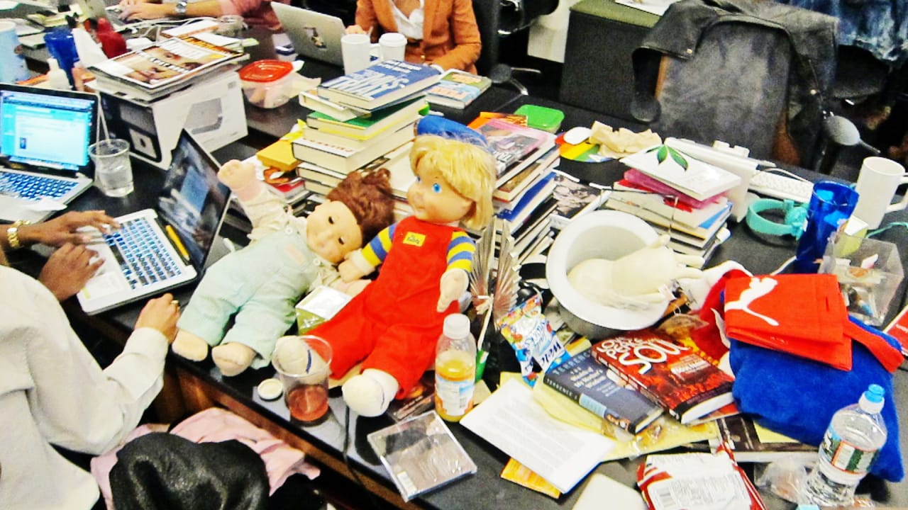 Watch Us Save Your Messy Desk On Huffpost Live Fast Company