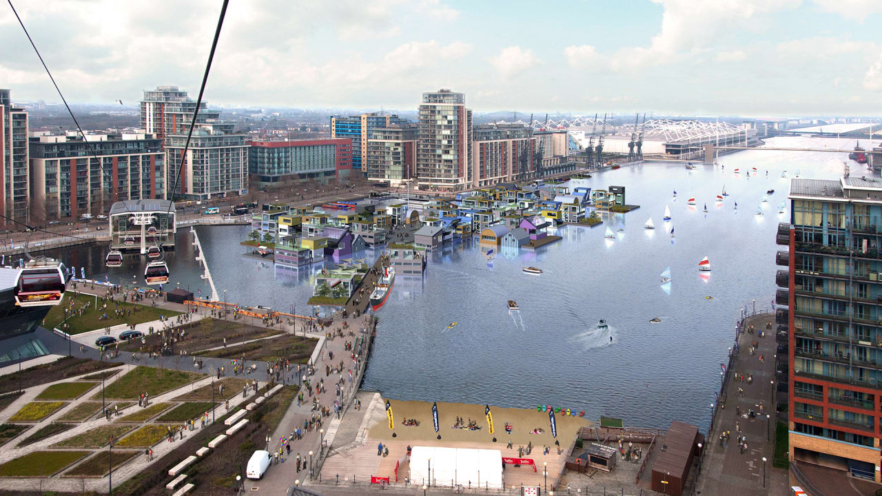 London Is Planning Its First Floating Village To Make Room For More People