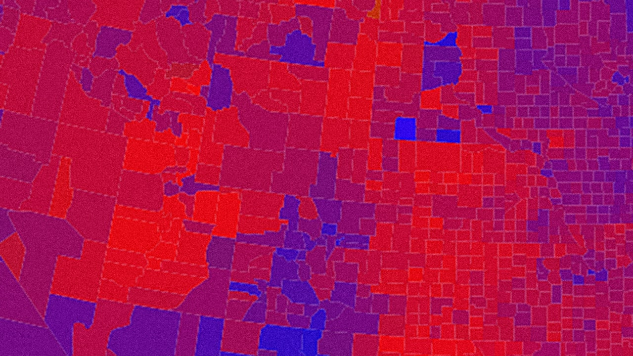The Glaring Design Flaw In US Election Maps Where Business And - Color temperature us voting map