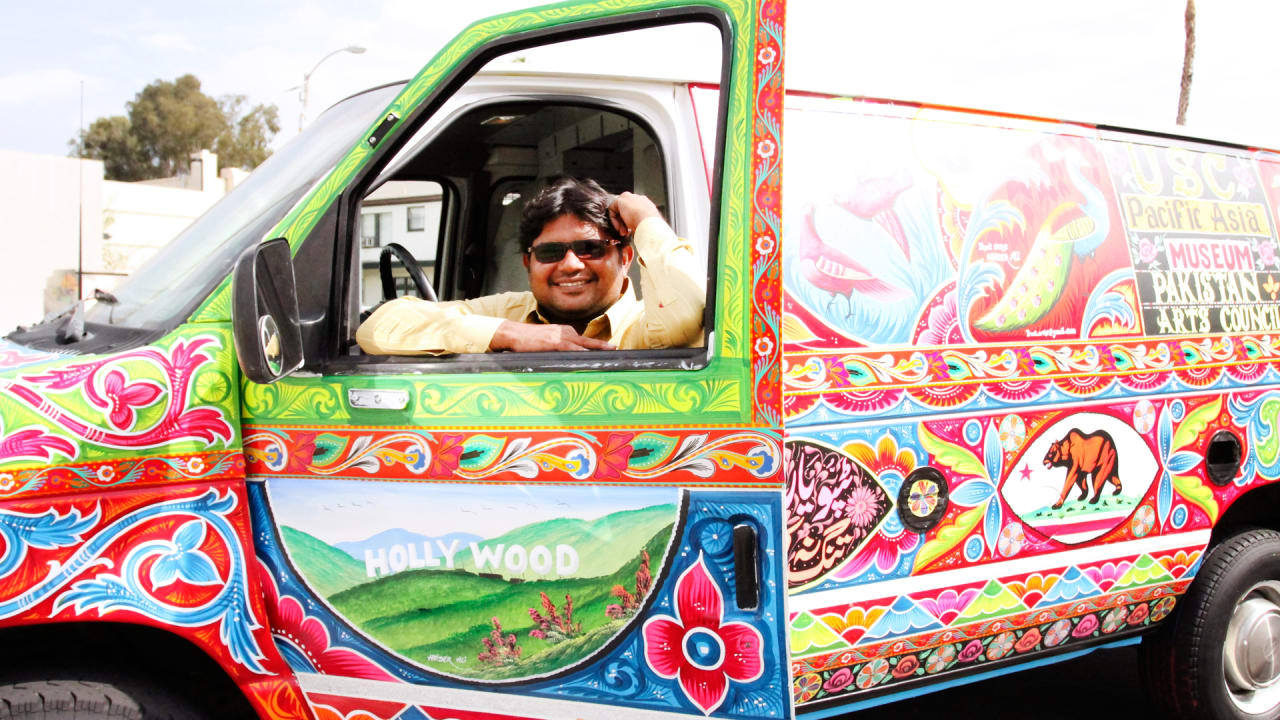 a jingle truck artist brings the mobile art of pakistan to america