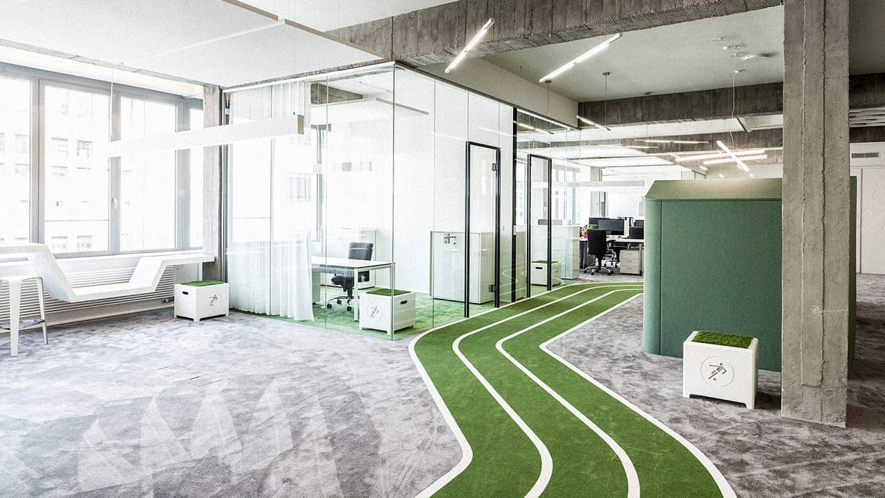 This Office Has A Running Track Co Design