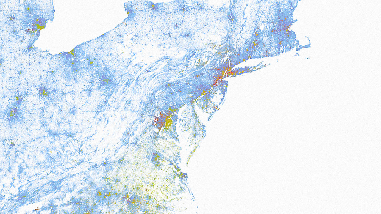 The Racial Profile Of Every Neighborhood In America Mapped - Washington dc map by race