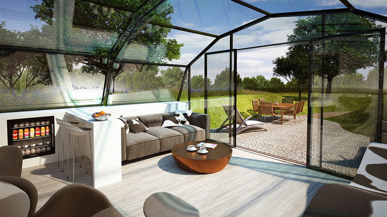 Live in this all glass dome for science for All glass house plans