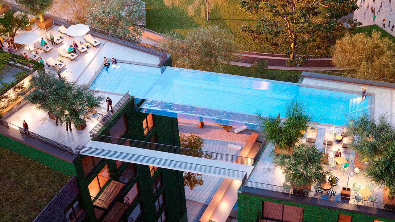 Floating Above London This Invisible Pool Lets You Swi Co Design