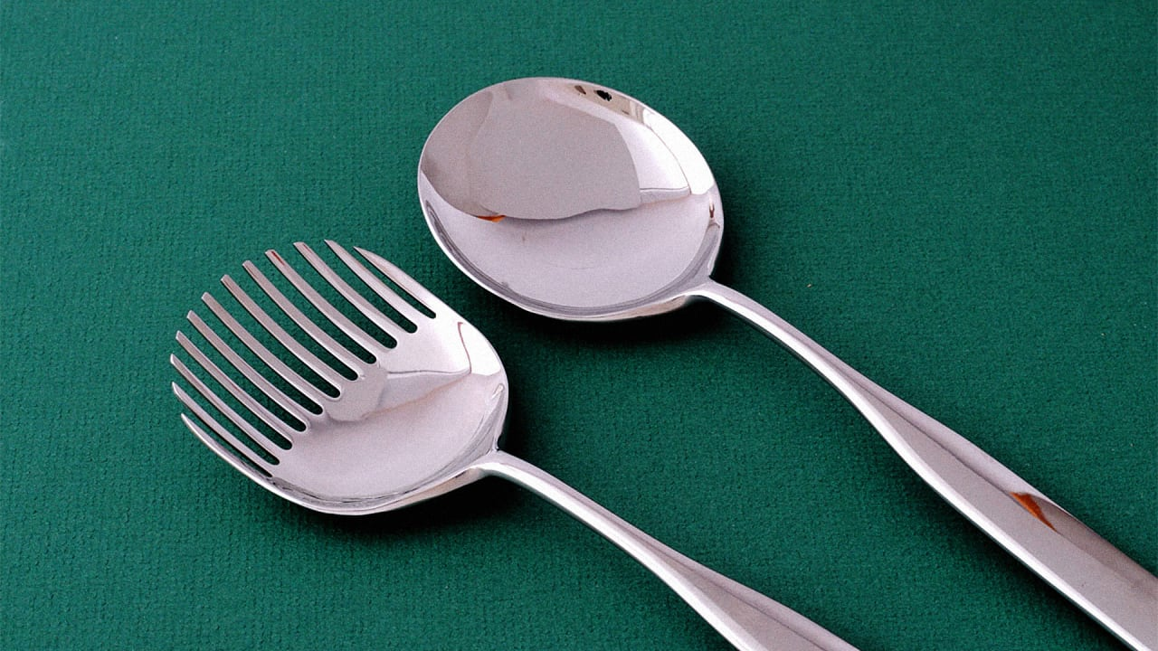 Alessi s modernist cutlery features sporks shovels and - Alessi dinnerware sets ...