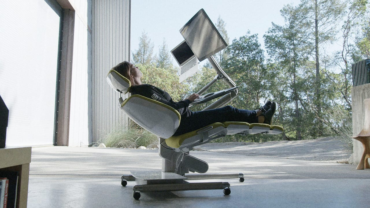 Instead Of Standing, Why Not Lie Down While You Work? This Desk Lets You Do  Both | Fast Company Amazing Pictures