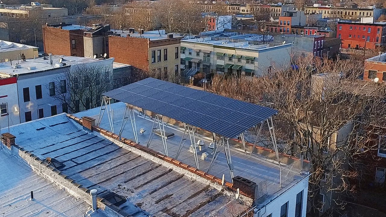 these solar canopies help panels fit onto tiny urban roofs