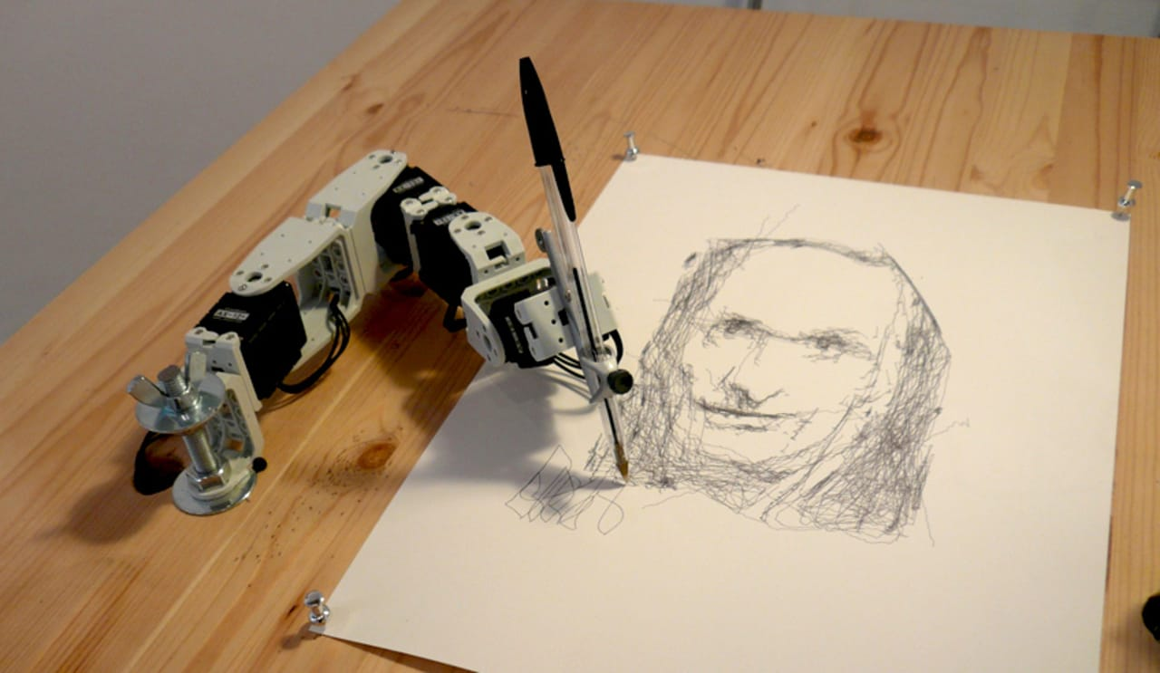 A Robot Hand That Draws Artfully Demented Portraits Video
