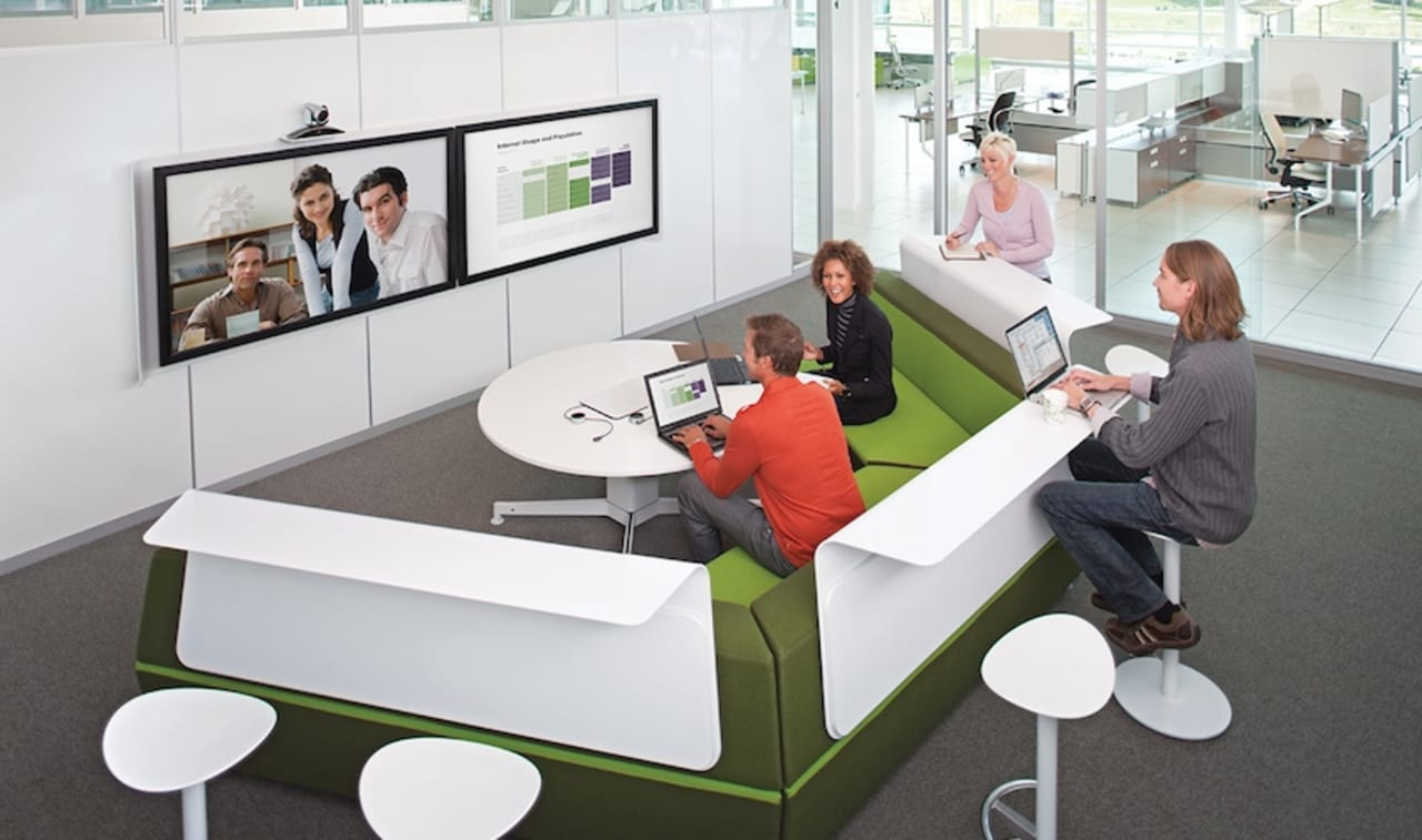 steelcase's brilliant workstation for staging virtual meetings video -