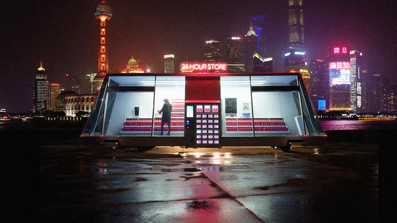 P 1 this tiny store is mobile self driving and run by ai