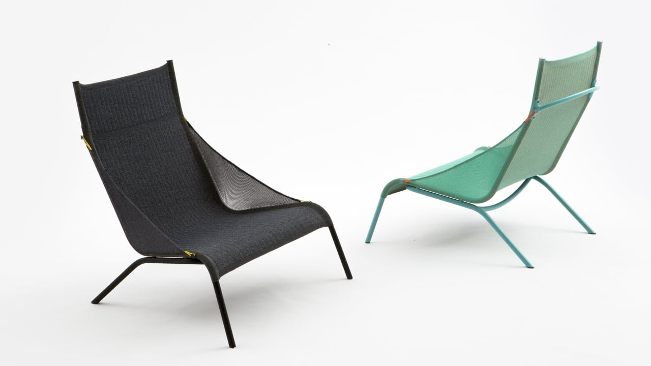 This 3D Knit Chair Is Made From A Single Piece Of Technical Fabric