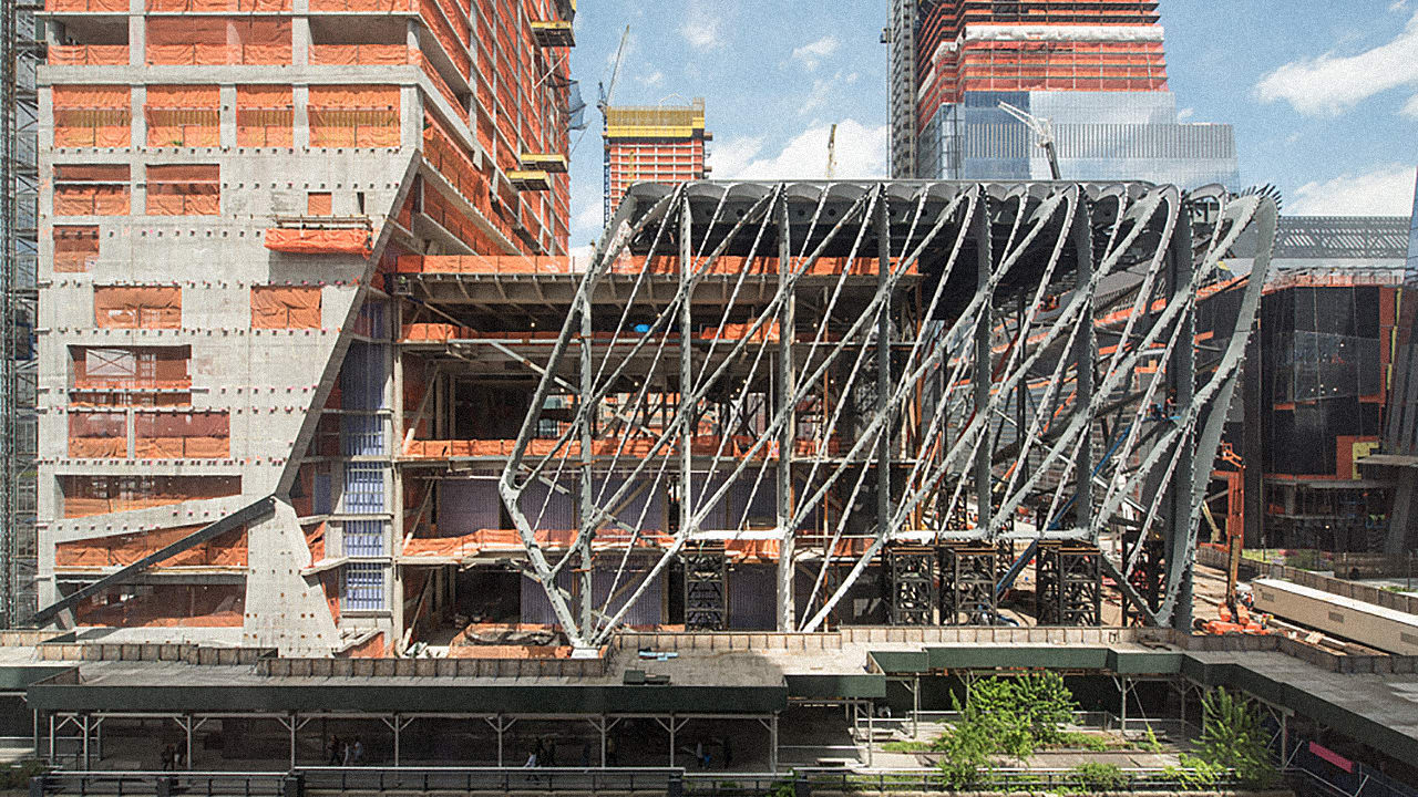 Watch Hudson Yards' 4,000-Ton Kinetic Roof In Action