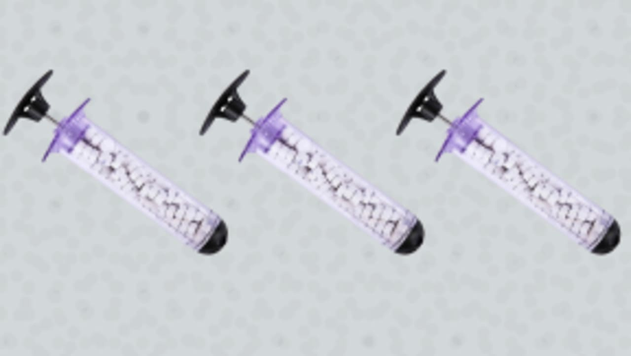 The FDA cleared this syringe for quickly plugging gunshot wounds in the arms and legs