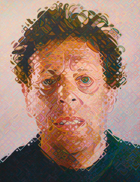 After Decades Of Pixel Painting, Chuck Close Goes Truly Digital
