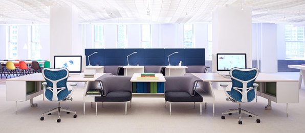 An Office System That Turns Every Desk Into A Conference Room