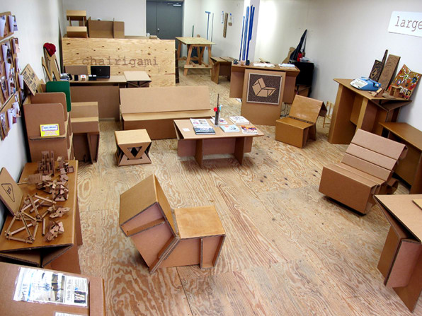 cardboard furniture design. so for his senior project rotholz designed an entire modular furniture system made out of cardboard it was specifically college students design
