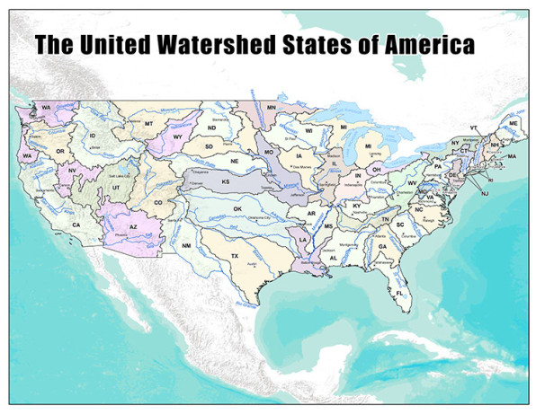 A New Map Of The US Created From Where We Get Our Wa Fast Company - Interactive map us watershed