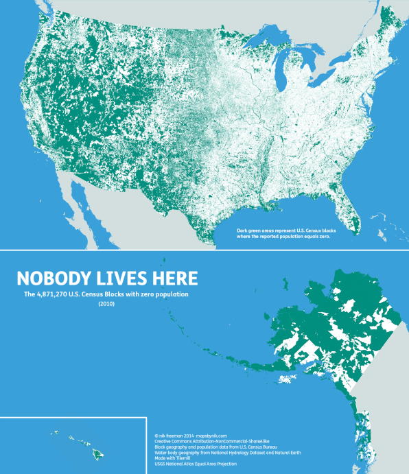 U S Population Lives In Just 4 Percent Of The Country S Counties Freeman Found It A Little Misleading Since It Suggested That Most People Lived In