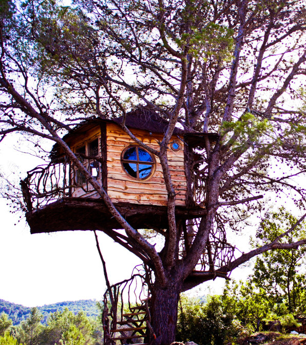 A Man On An Island Off The Spanish Mainland Hired Nelson To Build This  Fairytale Treehouse For His Supremely Lucky Young Son, Daniel.