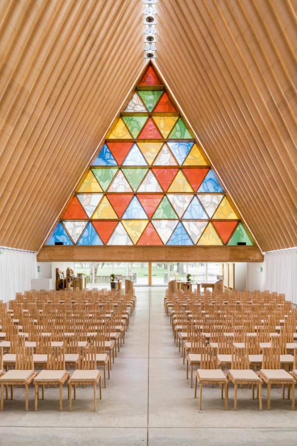 Cardboard Cathedral Christchurch New Zealand Shigeru Ban Architects