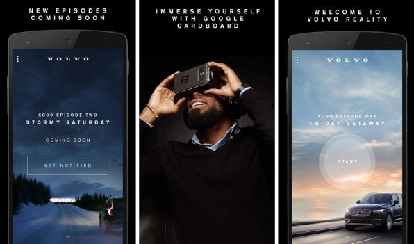 Creative uses of virtual reality - Volvo app