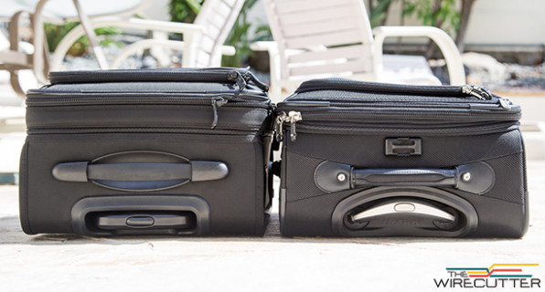 a sidebyside comparison of the kirkland left and travelpro luggage - Travel Pro Luggage