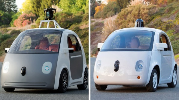 first complete prototype of google s self driving car looks like a cartoon ladybug co design. Black Bedroom Furniture Sets. Home Design Ideas