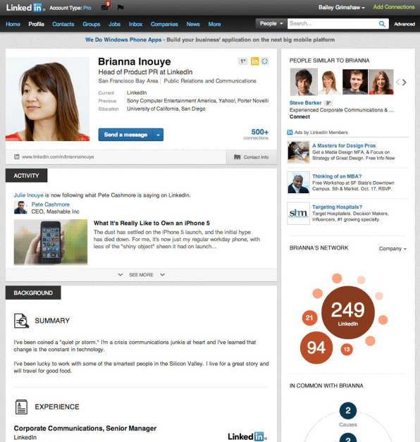 linkedin advanced search ipad by serial number