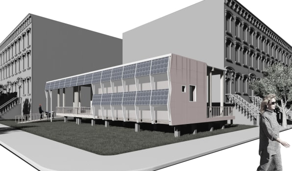 Student solar house project