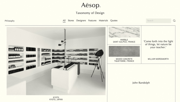 As Aesops Brand Grows And Evolves It Tries To Reflect That In The Retail Design For Example Nolita Storefront Is Made From Nearly Half A Million